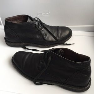 John Varvatos leather booties loafers moccasins